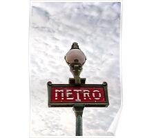 Metro sign Paris Poster
