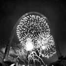 Fireworks, Gateway Arch, St. Louis, Missouri by Crystal Clyburn