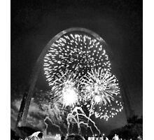 Fireworks, Gateway Arch, St. Louis, Missouri Photographic Print