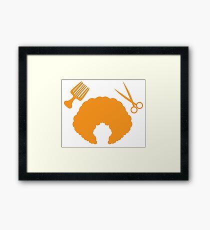 AFRO Hairdresser stylist Framed Print