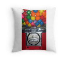 Bubble Gum Machine Throw Pillow