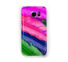 Colorful feathers Samsung Galaxy Case/Skin