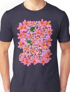 Pink Frangipani Flowers Unisex T-Shirt
