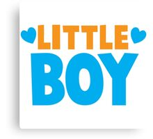 Little BOY with love heart Canvas Print