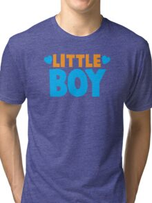 Little BOY with love heart Tri-blend T-Shirt