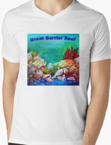 Underwater Great Barrier Reef  Mens V-Neck T-Shirt