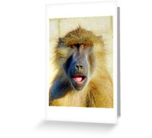 Guinea Baboon Portrait Greeting Card