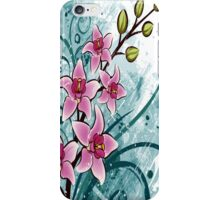 Orchids Grunge Floral Iphone Case iPhone Case/Skin