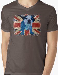 Jack the Bulldog Mens V-Neck T-Shirt