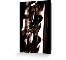 Flute close-up Greeting Card