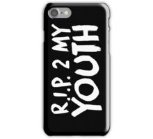 R.I.P. 2 My Youth iPhone Case/Skin