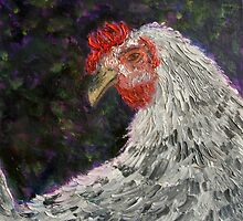 A portrait of Penny the Hen by tamiboo