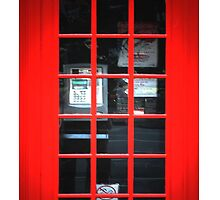 Red British Telephone Box copy Samsung Case by PrieeCase82