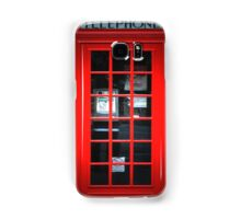 Red British Telephone Box copy Samsung Case Samsung Galaxy Case/Skin