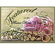 Banner for Flower Works Challenge  Photographic Print