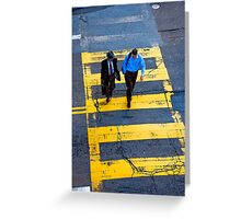 San Francisco crosswalk Greeting Card