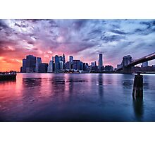 NYC Skyline at sunset Photographic Print