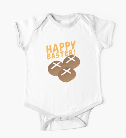 Hot cross buns HAPPY EASTER One Piece - Short Sleeve
