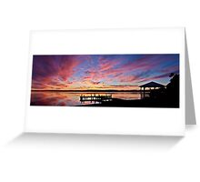 Squid's Ink Sunset Panorama Greeting Card