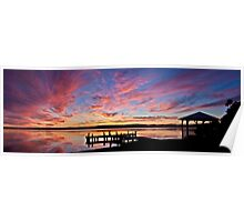 Squid's Ink Sunset Panorama Poster