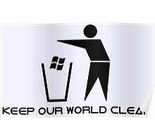 Keep Our World Clean Poster