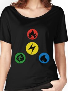 Pokemon Main Types Women's Relaxed Fit T-Shirt