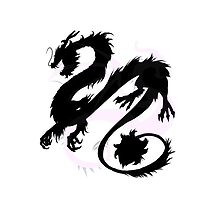 Chinese Dragon Silhouette by AsbrinfitzTv