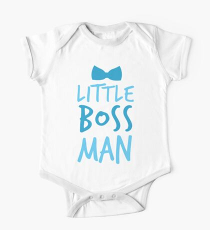 Little boss man with cute bow tie One Piece - Short Sleeve