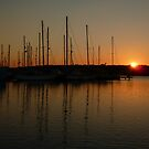 Sunset at Glasson Basin . by Lilian Marshall