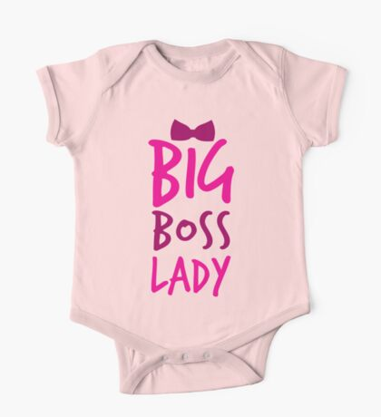 Big BOSS LADY with bow tie One Piece - Short Sleeve