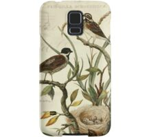 Vintage Bird and Music Notes Samsung Galaxy Case/Skin