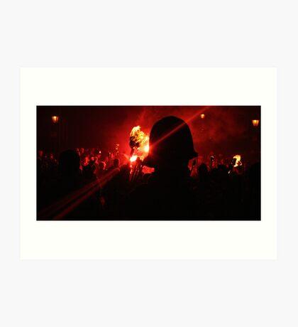 Crowd Custodian (Lewes Bonfire 2010) Art Print
