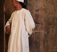 Man in White-Egypt by lynnehayes