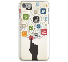 Hand on the button iPhone Case/Skin