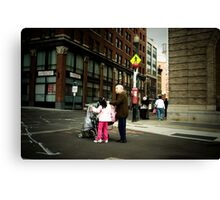 Grandmother and child, Boston, MA, USA Canvas Print