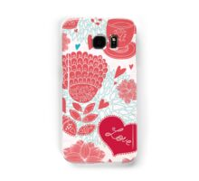 Vintage Flower Vector Love Samsung Galaxy Case/Skin