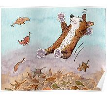 Nothing beat jumping in leaves Poster