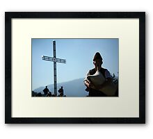bagpipe contest Framed Print