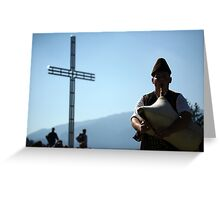 bagpipe contest Greeting Card