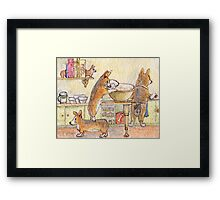 Hurry up! (before she catches us)  Framed Print