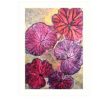 November's Garden 10 - Monoprint Art Print