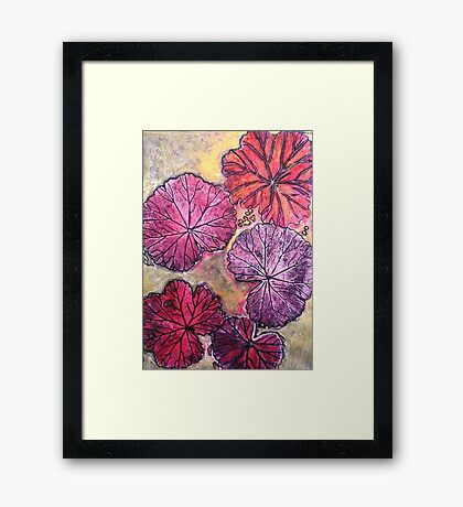 November's Garden 10 - Monoprint Framed Print
