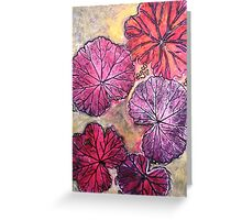 November's Garden 10 - Monoprint Greeting Card