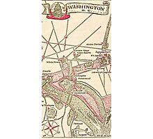 Washington DC Vintage Map Photographic Print
