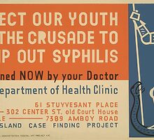 WPA United States Government Work Project Administration Poster 0631 Protect Your Health Join the Crusade to Stomp Out Syphilis by wetdryvac