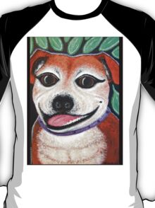 Gracie May Staffy Dog under the lime tree T-Shirt