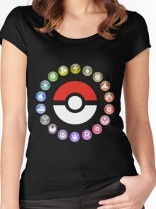 Pokemon Type Wheel Women's Fitted Scoop T-Shirt