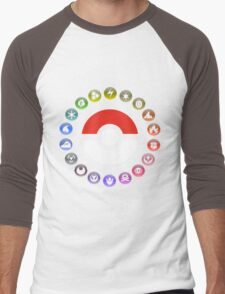 Pokemon Type Wheel Men's Baseball ¾ T-Shirt