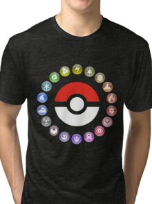Pokemon Type Wheel Tri-blend T-Shirt
