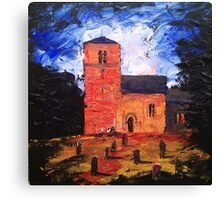 'Saxon Church, Kirk Hammerton' Canvas Print